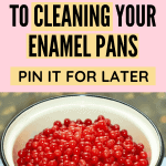 How to clean enamel pans