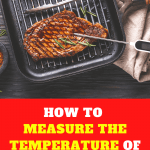 How to measure the temperature of a cooking pan