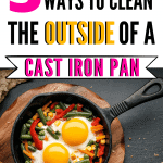 Clean the Outside of a Cast-Iron Skillet