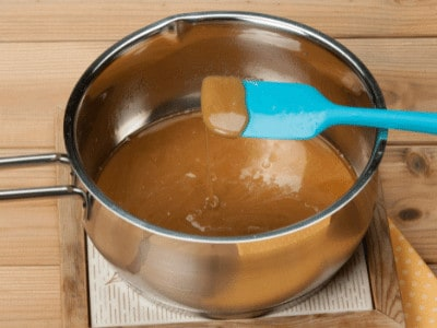 Toffee in a pan